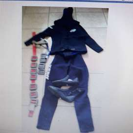 Complete diving suit nitrocell rubber 7mm with weightbelt.