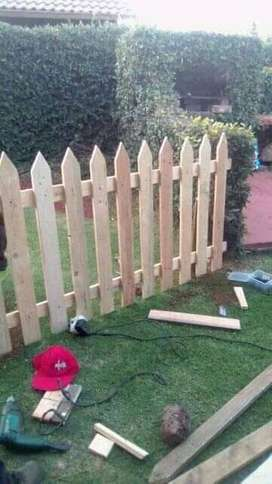 Picket fences and planter box