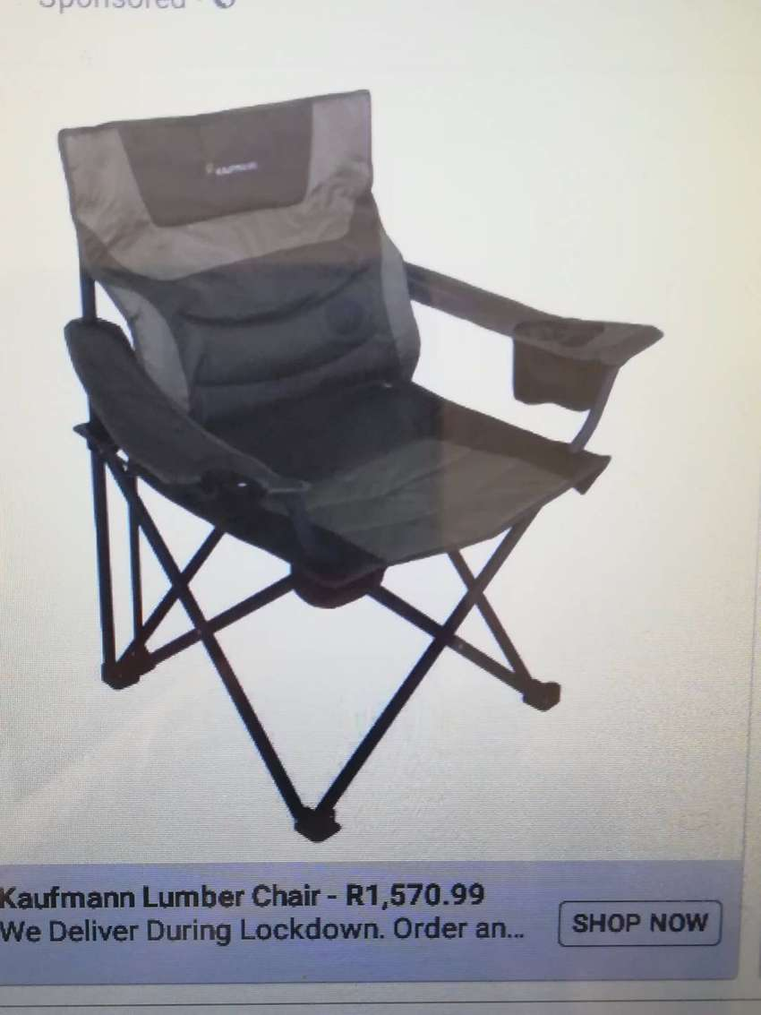 Outdoor luxury Chair for Back Support, unwanted gift. As New.
