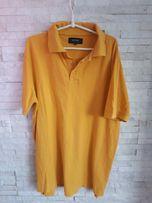 Koszulka BYTOM L żółta t-shirt połówka polo Massimo dutti Vistula zara
