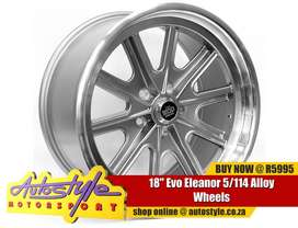 18 inch Evo Eleanor 5-114 Alloy Wheels suitable old classic shelby mus