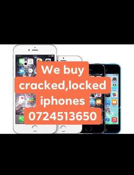 We collect cracked iPhones for cash