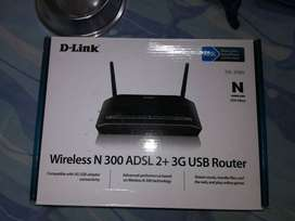 D Link Wireless N300 ADSL2 + 3G USB Router