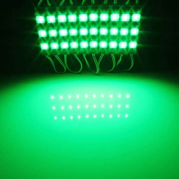 LED Light Modules Waterproof Injection Moulded with Lens in Green 0