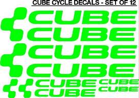 CUBE bicycle frame vinyl graphics decals