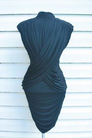 czarna elegancka dopasowana sexy sukienka french connection Sławno - image 6