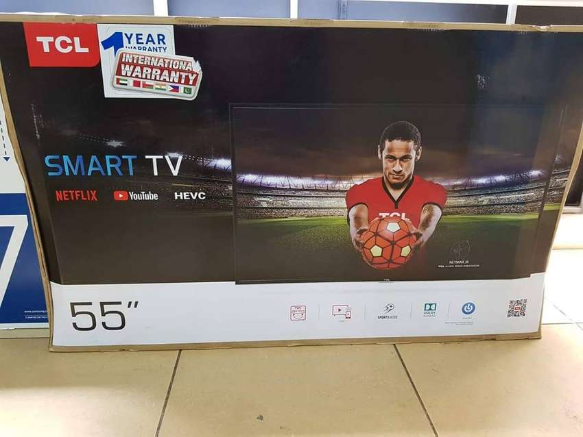 55inches Tcl Smart Tv with Netflix. Order we deliver 0