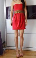 Sukienka czerwona tuba