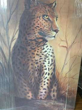 LEOPARD ON CANVAS