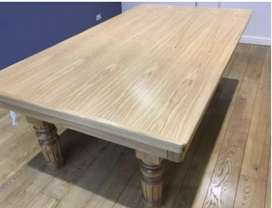 European solid oak pool and dining room table