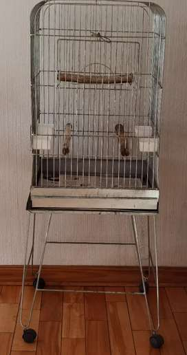 Large Silver Birdcage
