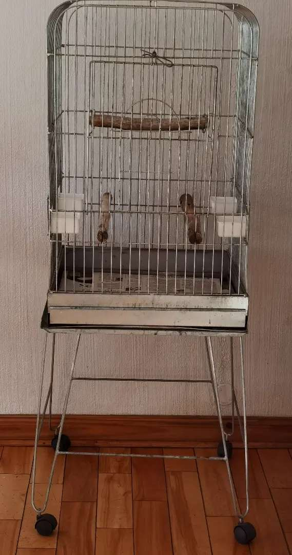 Large Silver Birdcage 0