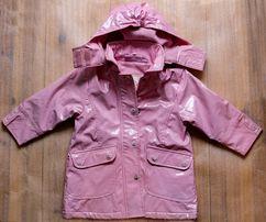 Куртка-дождевик на девочку Associes на флисе ( демисезонная)