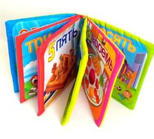 Мягкие развивающие книжечки с пищалочкой!учим цифры.игрушки для малыше