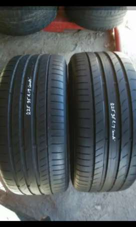 2×225/35/19 continental tyres for sale