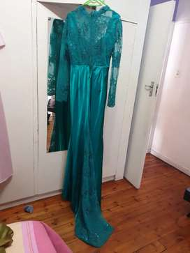 Evening dresses and shoes