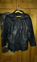 Кожаная зимняя курточка