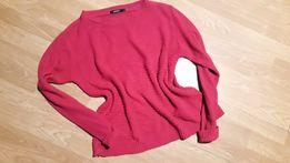Sweter oversize fuksja różowy
