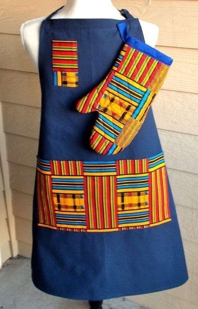 Ched Aprons customized kitenge 0