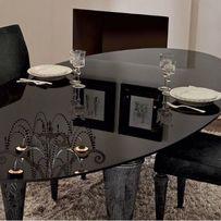 Szklany stół i 4 krzesła Piccadilly Ego