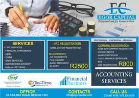 COMPANY REGISTRATION, COMPLIANCE. TAX, ACCOUNTING, BOOKKEEPING