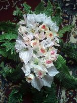 Экибана из цветов на свадебную машину или стол и букетики