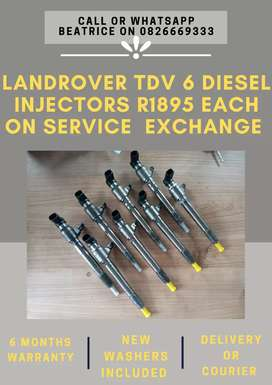 Landrover discovery TDV 6 Injectors available
