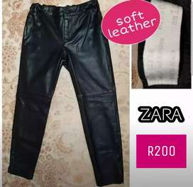 ZARA leather