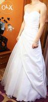 Sprzedam białą suknię ślubną - rozmiar 34