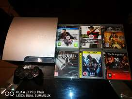 320gb Slim PS3 With 1 Controller, 6 Games