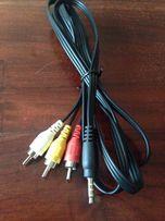 AV кабель 3.5 мм - 3 RCA Sony Canon JVC