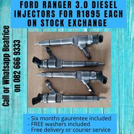 Ford ranger 3.0 injectors for R1895 each