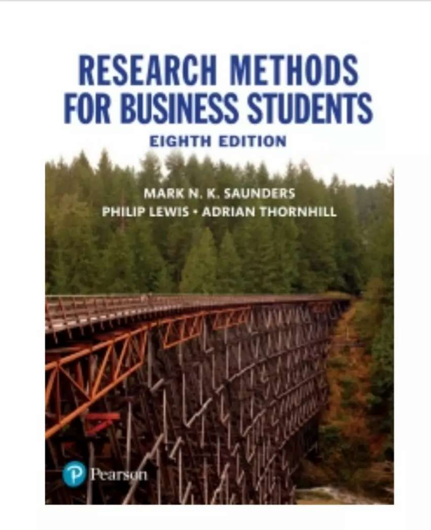 Textbook : Research Methods for Business Students 0
