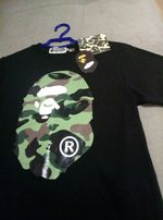 A Bathing Ape Bape Desert Camo Face T-Shirt (Black)