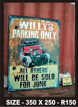 Old Collectible Vintage Metal Signs