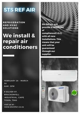 air conditioning installation and repair with C.O.C absolute bargain