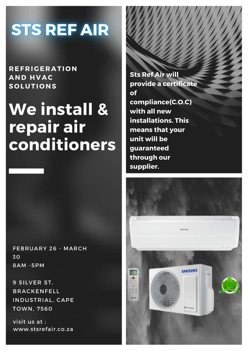 air conditioning installation and repair with C.O.C absolute bargain 0
