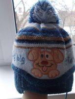 Дитяча шапка тепла з вушками на 1-2 роки