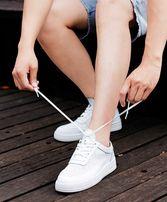 Белые кроссовки дышащая кожа