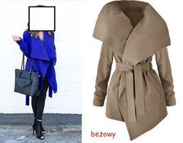 płaszcz wiazany damski