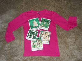 Bluzki dziewczęce 116 cm, długi rękaw - różne wzory i kolory.