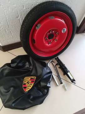 Porsche Cayman 987 Brand New 19 Spare Wheel kit Tools and Wheel Cover