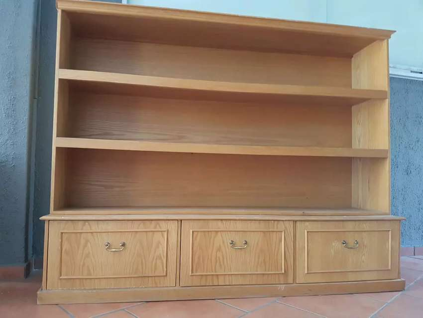 3 bookcase shelf with 3 drawers 0