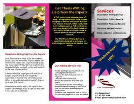Dissertation and Thesis Services