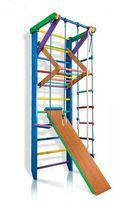 Drabinka gimnastyczna z dodatkami w kolorze dla dzieci RAINBOW 3-220