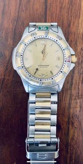 Tag Heuer Ladies Professional Model 4000 Two toned.  Excellent