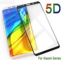 Защитное стекло 9H 5D 3D Полной оклейки Xiaomi, Redmi, Huawei, Honor