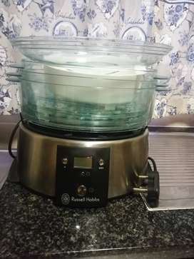Russell Hobbs Food steamer, Safeway Popcorn maker & 4pcs Canisters