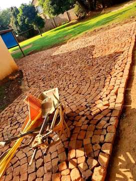 Cobble half brick paving Fix and supply