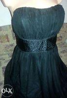 śliczna czarna sukienka balowa elegancka VERO MODA r.40 JAK NOWA
